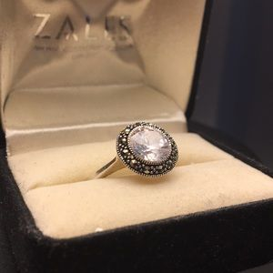 Jewelry - Brand New Sterling Silver & Swarovski size 5 ring